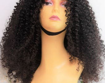 Lace Front Wig - Human Hair Wig - Virgin Human Hair - Curly Wig - Handmade Wig - Glueless Wig - Women's Fashion Wig