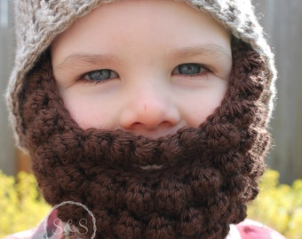 Kids Beard Hat Toddler Teen Adult
