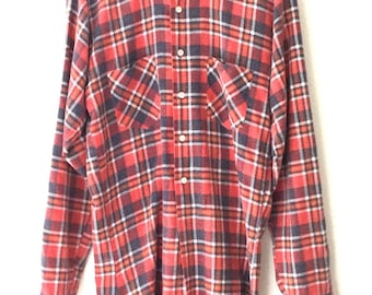 Vintage Classic Plaid Flannel Button Down