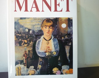 Manet - 1990 Edition - - gift for art lovers - Impressionist art - Fantastic display of art - painters France Paris 40 color plates