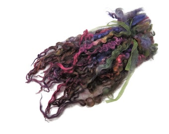 """1oz Premium Hand picked Teeswater wool locks, 10""""-12"""", Extreme locks for tailspinning and felting  (AF-78)"""