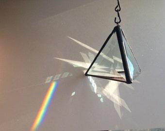 Prism Pyramid - Beveled Glass - Rainbow
