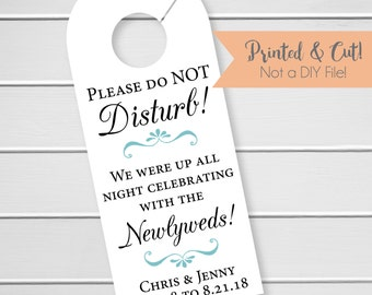 Wedding Door Hanger, Custom Hotel Door Hangers, Destination Wedding Welcome Bag  (DH-007)