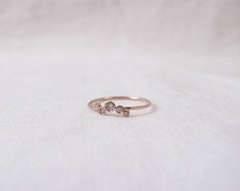 Bubble cluster diamond ring