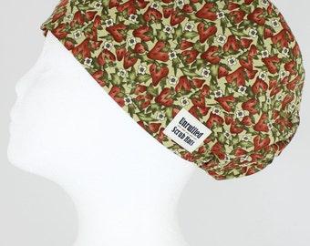 Surgical Scrub U Hat for Women - Strawberry Fields