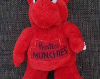 Vintage Rare 1980s HOSTESS MUNCHIES  Red Plush Doll
