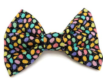 Glittery Easter Egg Pet Bow Tie- Dog, Cat, Collar