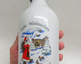 Free shipping bottle Christmas vintage porcelain bottle Christmas Fiedler Christmas original beer made in Germany
