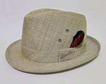 Vintage Borsalino Alessandria Fedora Gray Hat with Original Storage Paperbox, CecysAsianShop