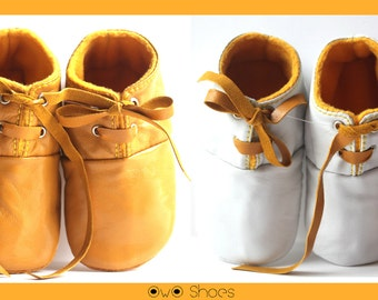 0-3 Months Slippers / Baby Shoes Lamb Leather mustard yellow
