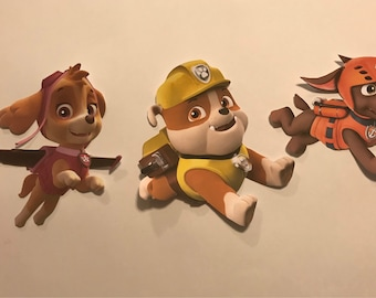 """8 Paw Patrol Cut Outs For Centerpieces Cardstock 8"""""""