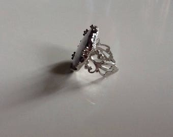 Pretty pink cherry blossom and butterfly Ring