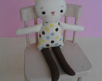 Baby Bear Plushie - Handmade cloth doll, baby toy, plush toy, softie