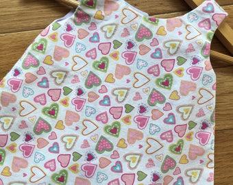 Girl's Size Newborn, Summer Dress ,Handmade Dress, A-Line Dress, Dress, Upcycled
