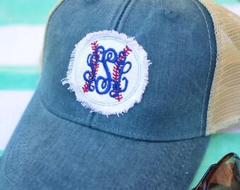 Monogram Baseball Trucker Hat, Baseball Caps, Monogram Trucker Hat, Trucker Hat, Trucker Cap, Distressed Baseball Cap, Monogram Hat
