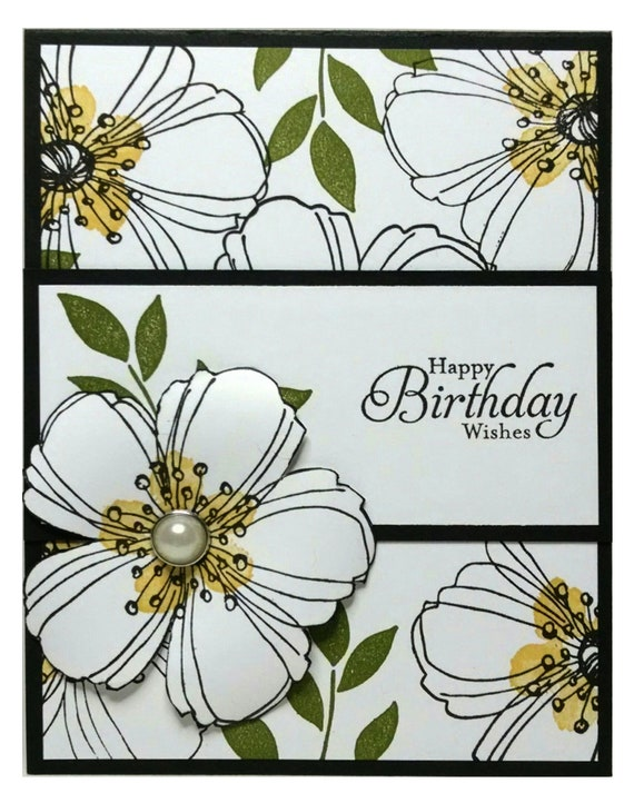 Birthday Card Stampin Up Handmade Card Floral Birthday Card