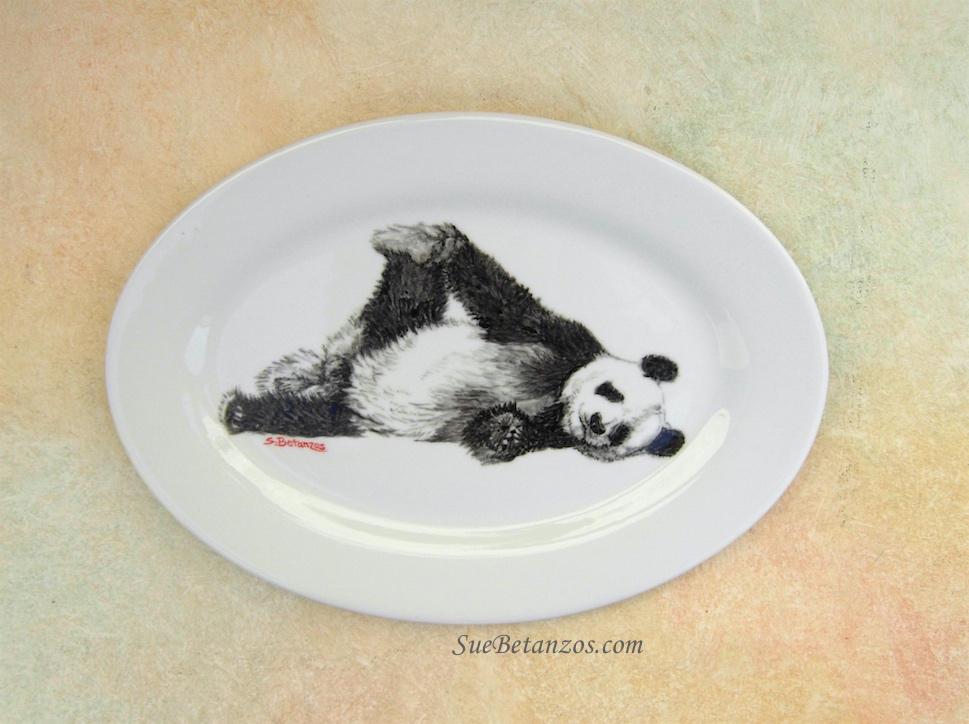 Panda Bear Mothers Day Gift Jewelry Dish Birthday Gift Panda Lover Panda Art Animal Lover Bear Art Panda Wall Art Panda Love