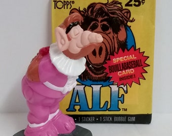 Combo Set- ALF Trading Cards and PVC Figurine