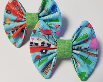 Camping FrankTie - Dog Bow Tie