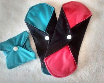 Set of 3 washable sanitary pads (furnished) SHL