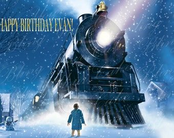 The Polar Express Edible Icing Sheet Cake Decor Topper in your choice of size