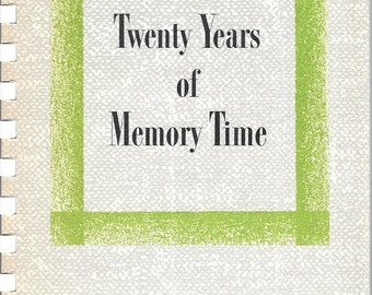 Twenty Years of Memory Time Don McNeill's Breakfast Club 1953 Plastic Comb Bound Paperback