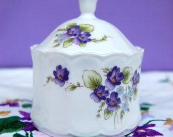 Vintage Porcelain Sugar bowl~Germany~Eschenbach~Floral Pattern