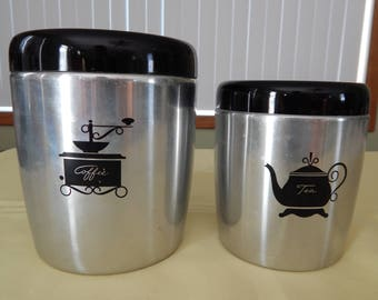 West Bend Coffee and Tea Canisters