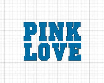 Pink Love Solid - Iron On Vinyl Decal Heat Transfer