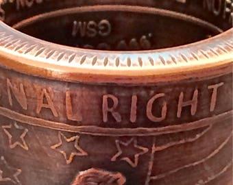 2nd Amendment coin ring