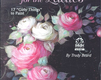 How to Paint Cabbage Rose Flowers Roses Instruction and Pattern Book Full Size Patterns