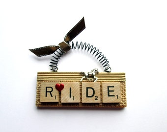 Love to Ride Horse Scrabble Tile Ornaments
