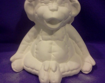 Ceramic Kimple Softy Monkey ready to paint