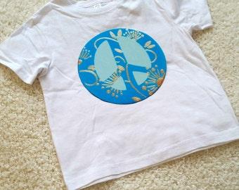 Peace sign Children's Toddler Tshirt. Sizes 2T, 3t, 4t, 5/6T graphic kids shirt gift, toddler boys, toddler girls, kids shirt