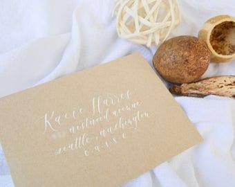 Wedding Envelopes //  Calligraphy // Hand lettered