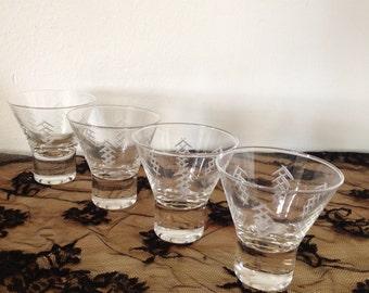 Shot Glasses in a Retro Style