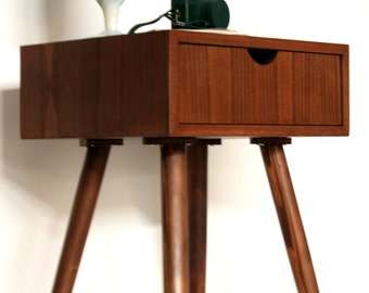 Bedside Table/ Nightstand/ Custom made/ Handmade/ Scandinavian/ Mid Century Design