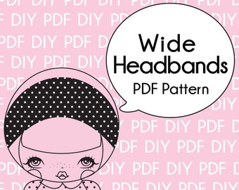 Wide Headband and Pattern for Adults and Teens-Printable PDF Download