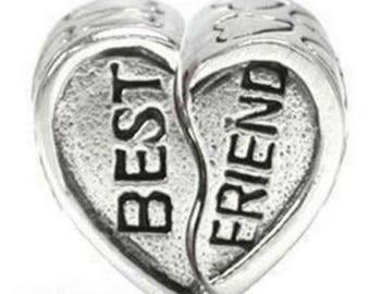 10 Tibetan Silver Large Hole Heart Beads 13x8mm Pandora Style Beads