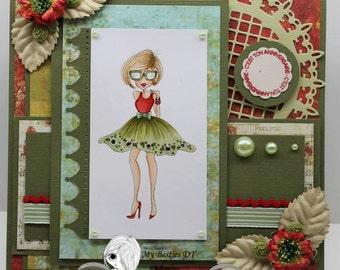 INSTANT DOWNLOAD Digital Digi Stamps Big Eye Big Head Dolls NEW My Besties Fashionista img812 By Sherri Baldy