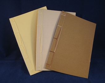 Set of Three Blank Journals