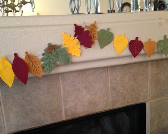 Autumn Leaves Garland / Fall Garland - EXTRA LONG