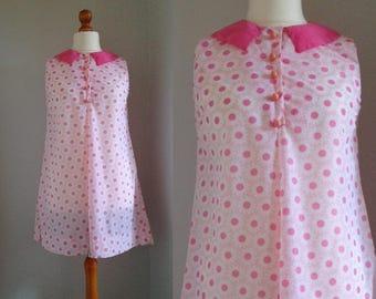 Funky 60's Babydoll Minidress, Size Medium