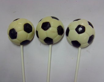 Soccer Ball Lollipops (12)-Soccer Moms/Team Events and Parties/Awards Banquets/Birthday Parties/Bachelor Parties (12)