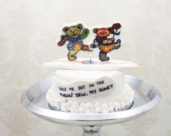 Groom's Cake Mini Replica Custom Ornament - Replica Cake - Wedding Gift - First Anniversary - Newlyweds Gift - Clay Ornament Shop