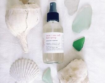 Rose + Sea Salt Hair Spray ~ beachy waves - texturizer - 100% natural - coconut oil - rosewater - Dead Sea salt