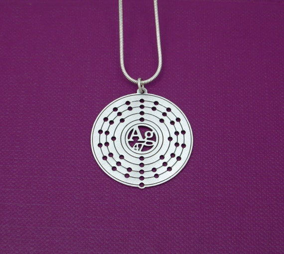 periodic table silver atom necklace electron configuration - Au Pendant Periodic Table