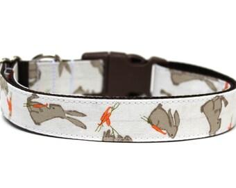 "Easter Dog Collar 1"" Bunny Dog Collar Spring Dog Collar"