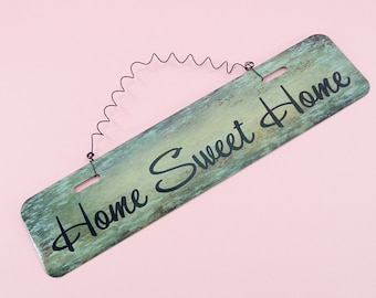 Lovely HOME SWEET HOME Metal Sign | Wire Cute Home Decor Entryway Kitchen Front Door Breezeway Mantle Fireplace Wreath Decoration 12in x 3in