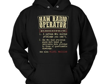 Ham Radio Operator Hoodie Ham Radio Operator Gift Dictionary Definition Sweater